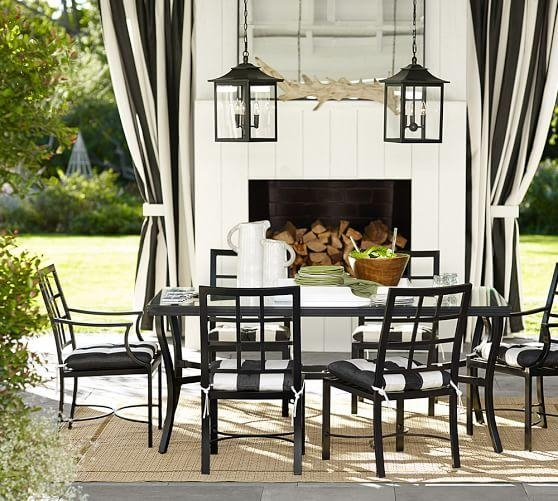 Riviera Rectangular Dining Table & Chair Set | Pottery Barn Inside Dining Tables And Chairs Sets (Image 17 of 20)