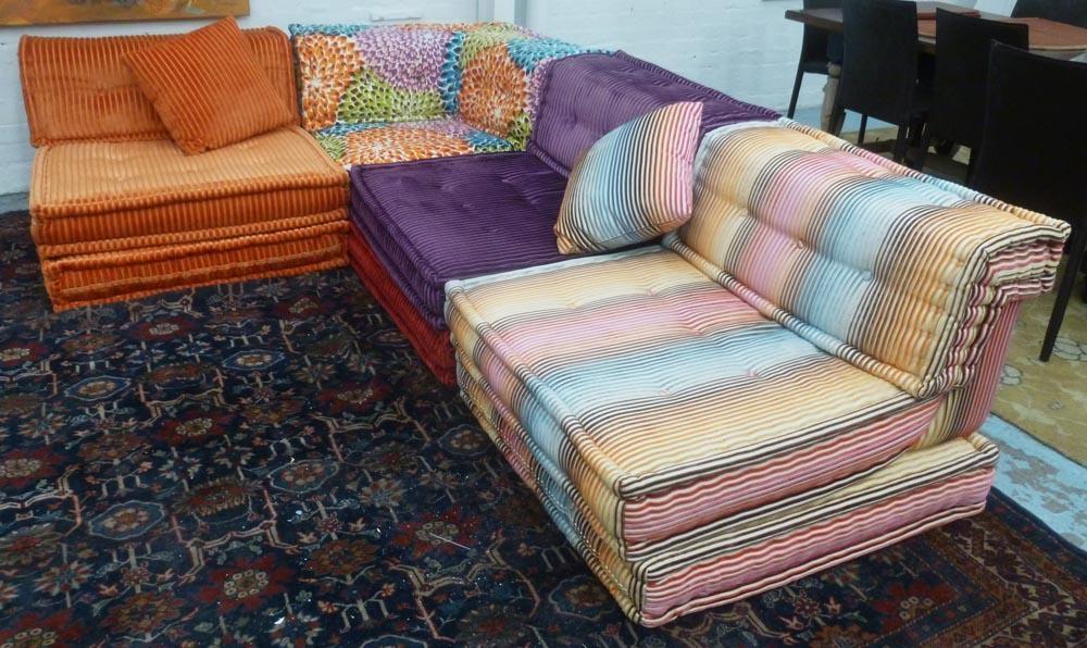 Roche Bobois Mah Jong Corner Sofa In Four Sections Multi Throughout Sofas