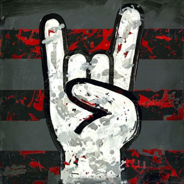 Rock And Roll (Rock On Hands) – Wall Art| Oopsy Daisy Stretched Inside Rock And Roll Wall Art (Image 14 of 20)