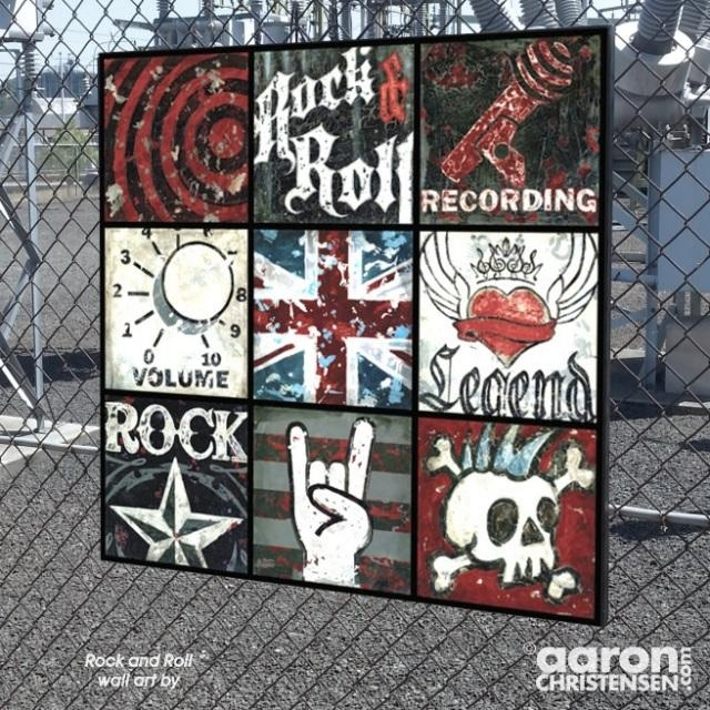 Rock And Roll Wall Art Poster Print And Canvas For The Music Lover Pertaining To Rock And Roll Wall Art (Image 15 of 20)