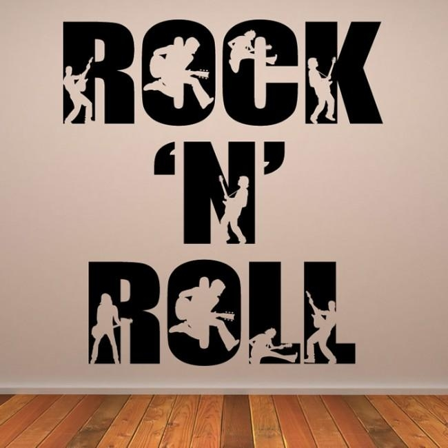 Rock N Roll Rock Band Musicians & Band Logos Wall Stickers Music With Rock And Roll Wall Art (Image 18 of 20)