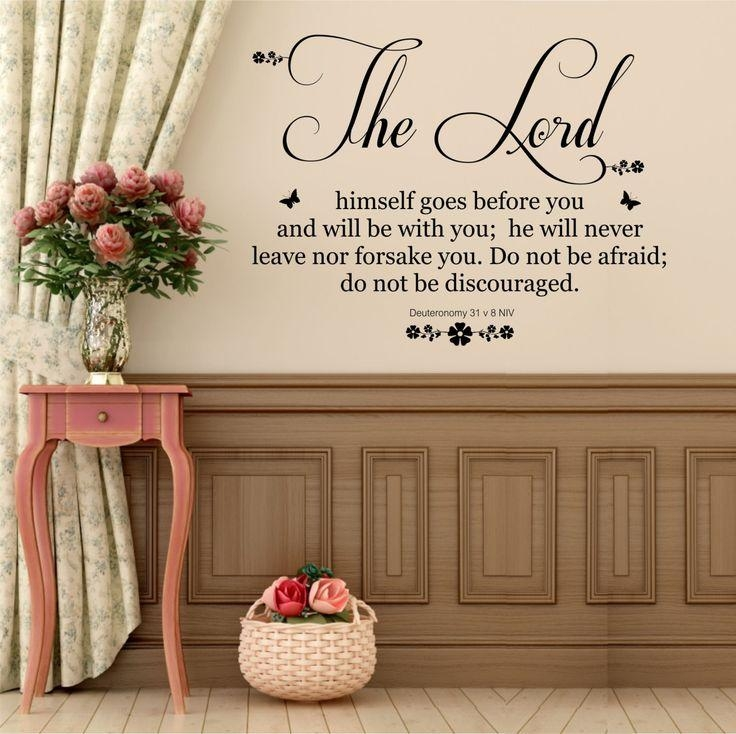Room Decor : Christian Wall Decor Stickers Christian Wall Decors Pertaining To Christian Word Art For Walls (Image 14 of 20)