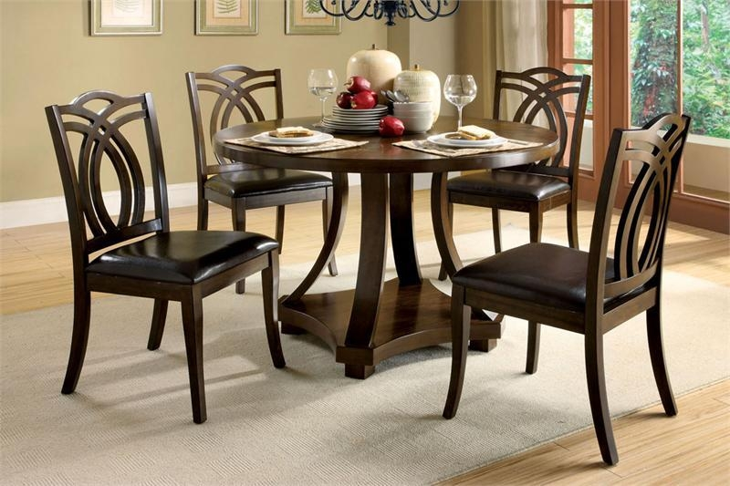 Round Dining Room Sets For 4 | Eva Furniture In Most Recently Released Circular Dining Tables For  (Image 8 of 20)