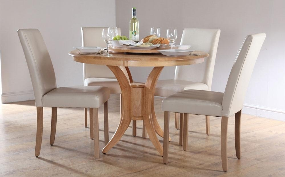 Round Dining Table Sets For 4 – Coredesign Interiors Regarding Most Recent Circular Dining Tables For  (Image 10 of 20)