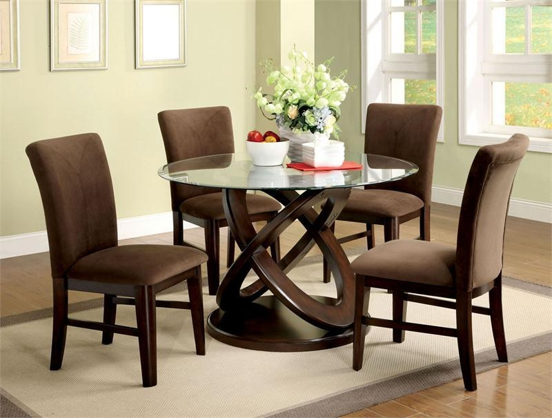 Round Dining Table Sets For 4 – Coredesign Interiors With Glass Dining Tables Sets (Image 20 of 20)