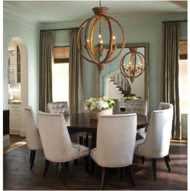 Round Dining Table Upholstered Chairs – Thesecretconsul Pertaining To 2018 Dining Tables And Fabric Chairs (Image 19 of 20)