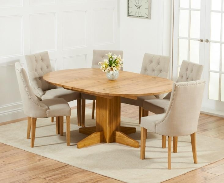 Round Extendable Dining Table And Chairs – Round Designs Intended For 2017 Round Oak Extendable Dining Tables And Chairs (Image 15 of 20)