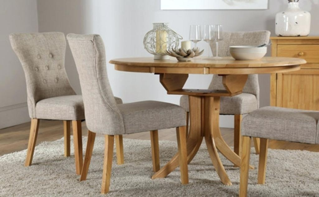 Round Extendable Dining Table And Chairs Uk Pine Extending Dining Regarding Most Current Round Extendable Dining Tables And Chairs (Image 17 of 20)