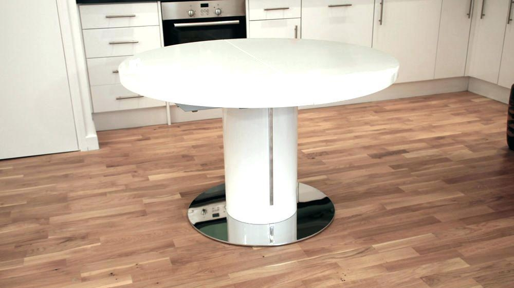 Round Extendable Dining Table Round Pedestal Extending Dining For Most Recently Released White Round Extendable Dining Tables (Image 13 of 20)