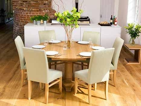 Round Extending Dining Table And 6 Chairs – Round Extendable Pertaining To Most Recent Round Oak Extendable Dining Tables And Chairs (Image 16 of 20)