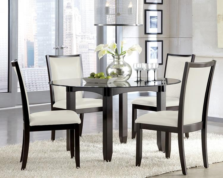 Round Glass Dining Room Table – Coredesign Interiors Within Most Recently Released Round Black Glass Dining Tables And 4 Chairs (Image 17 of 20)
