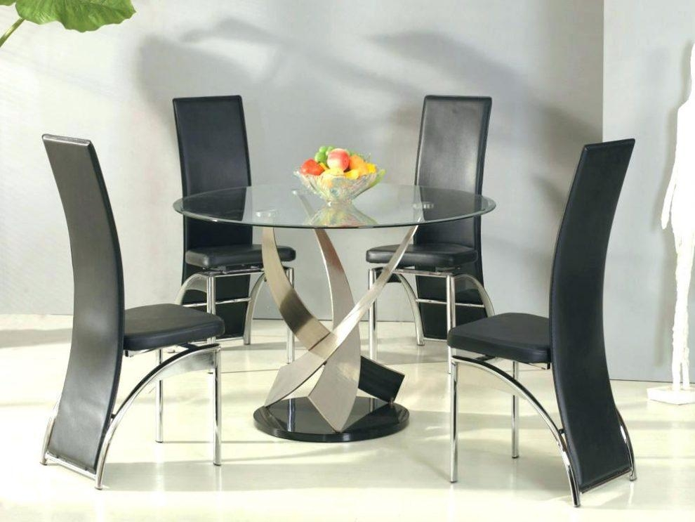 Round Glass Dining Table Sets For 4 – Mitventures (Image 19 of 20)