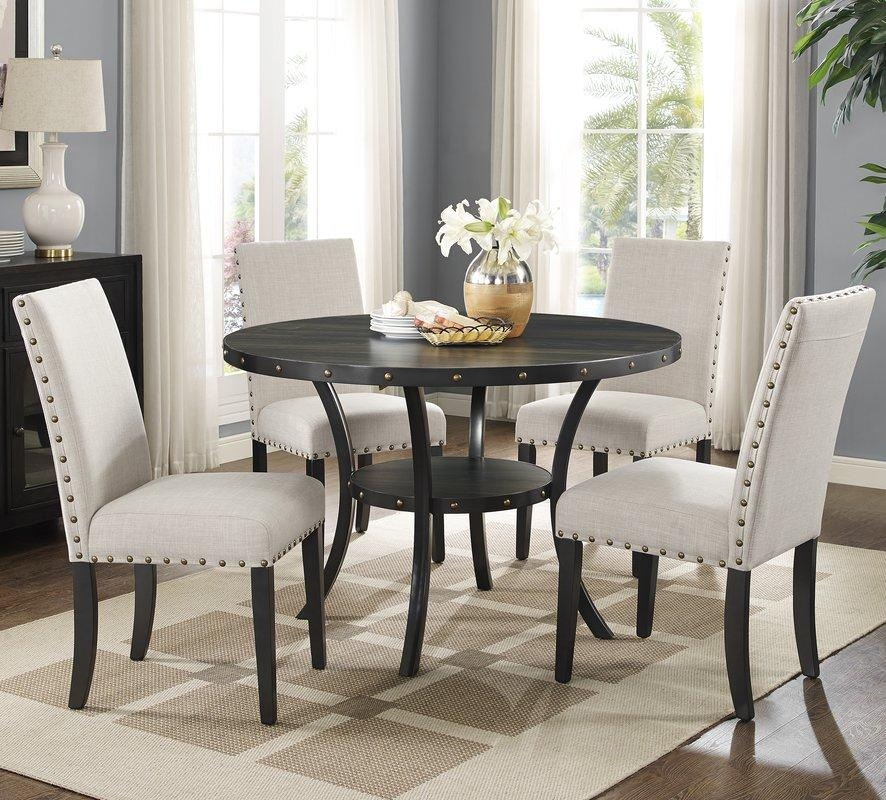 Round Kitchen & Dining Room Sets You'll Love | Wayfair With Newest Kitchen Dining Sets (Image 18 of 20)