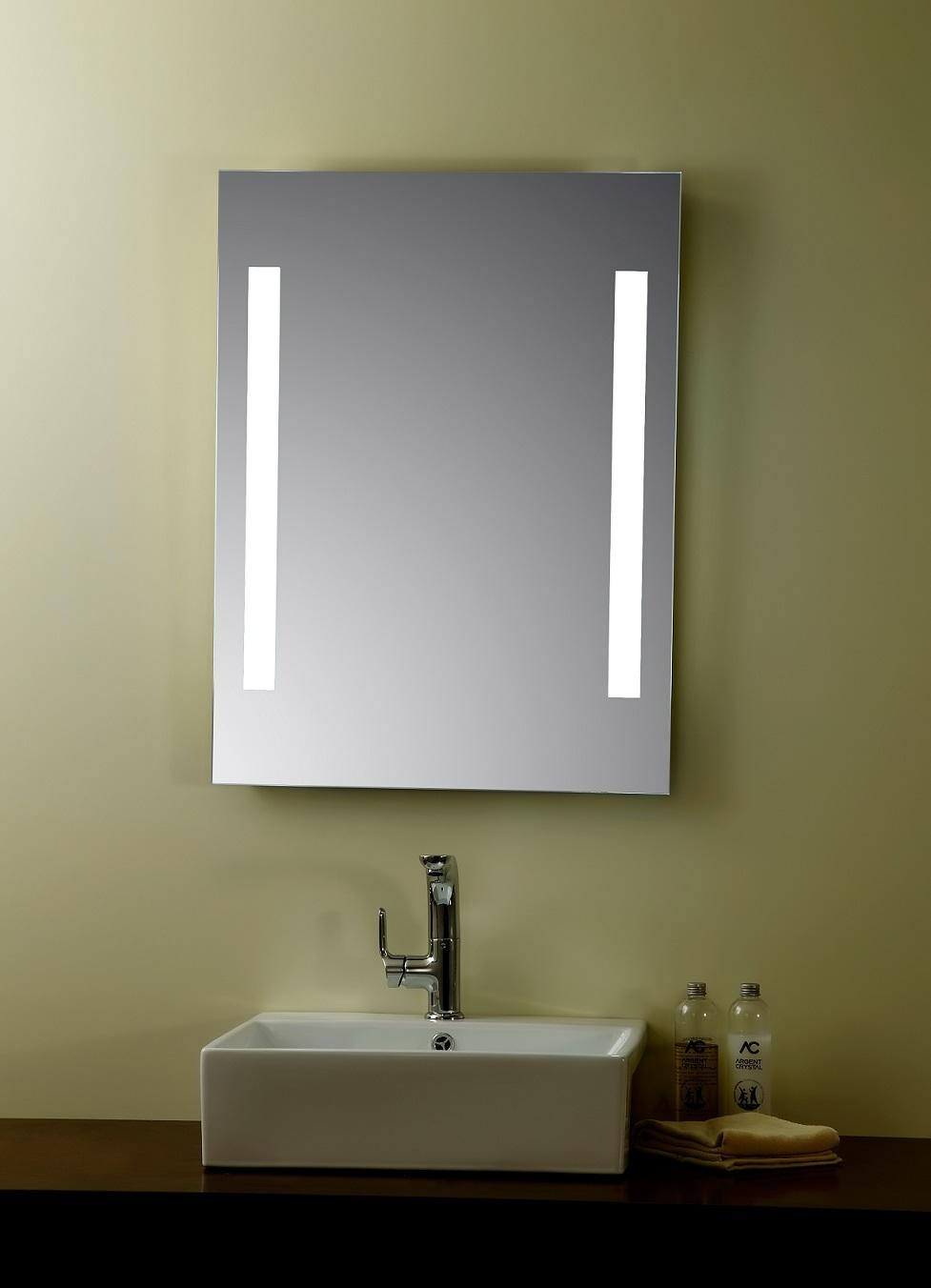 Round Lighted Mirror Vanity : New Lighting – Lighted Mirror Vanity Throughout Led Lighted Mirrors (Image 20 of 20)