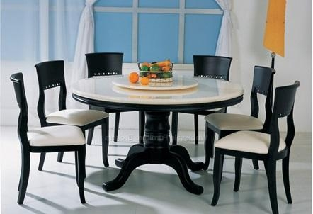 Round Marble Dining Table And Chairs Marble Dining Table With Marble Dining Tables Sets (View 6 of 20)