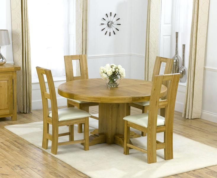 Round Oak Dining Table And Chairs – Mitventures (View 8 of 20)