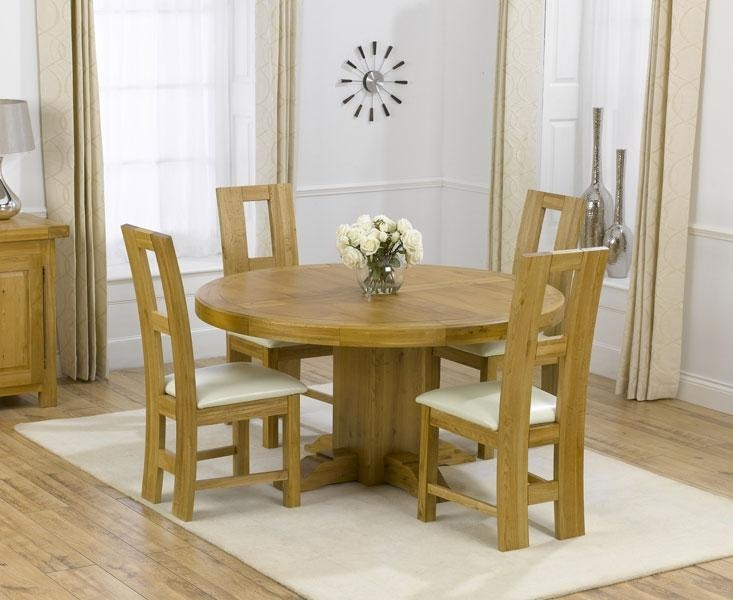 Round Oak Dining Table Small (Image 13 of 20)