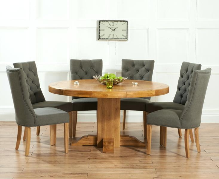 Round Oak Dining Tables – Mitventures (Image 15 of 20)