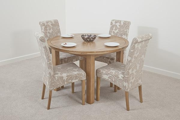 Round Oak Table And Chairs | Iron Wood With Regard To Current Round Oak Dining Tables And Chairs (Image 16 of 20)