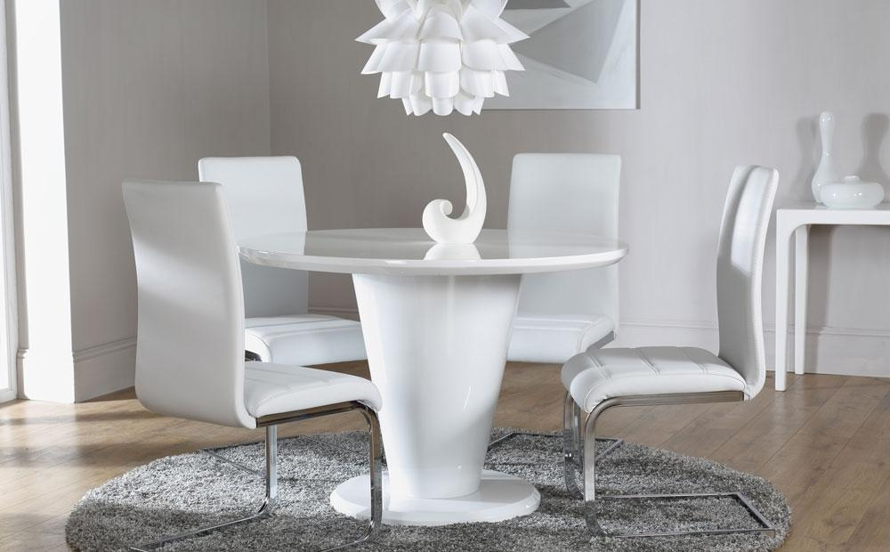 Round White High Gloss Dining Table – Living Room Decoration Regarding White High Gloss Dining Tables And Chairs (Image 11 of 20)