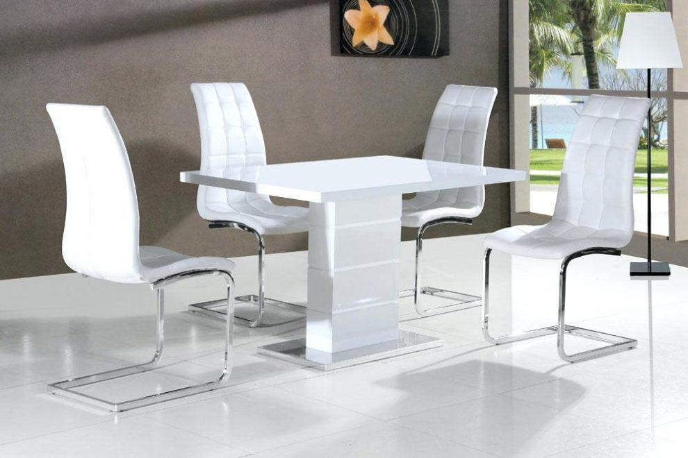 Round White High Gloss Dining Table – Mitventures (Image 17 of 20)