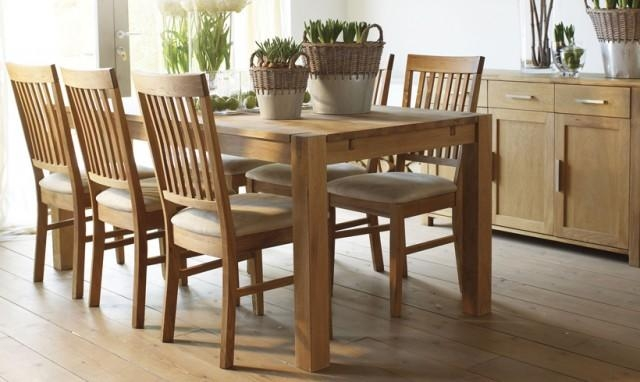 Royal Oak – Fishpools With Regard To Most Up To Date Oak Dining Tables And Fabric Chairs (Image 17 of 20)