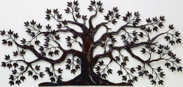 Rusted Brown Tree Wall Art – Interiordecorating Within Iron Tree Wall Art (Image 17 of 20)