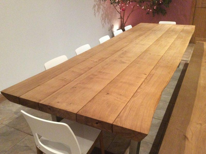 Rustic Dining Table Selection | Hand Crafted From Tarzan Tables Inside Recent Rustic Oak Dining Tables (Image 10 of 20)