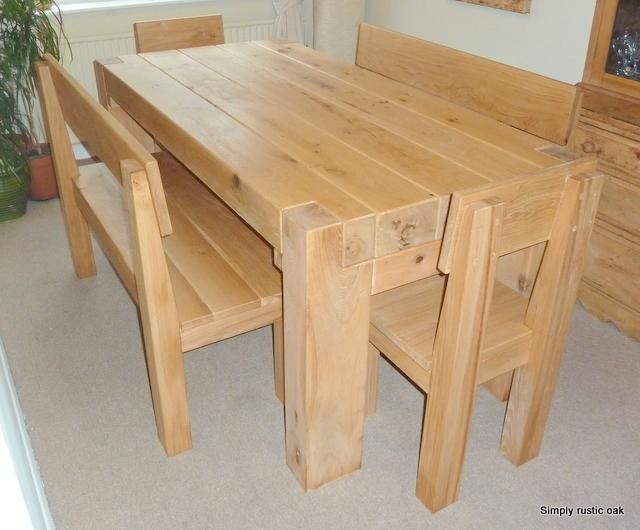 Rustic Oak Beam Contemporary Dining Table | Simply Rustic Oak Regarding Recent Rustic Oak Dining Tables (View 9 of 20)