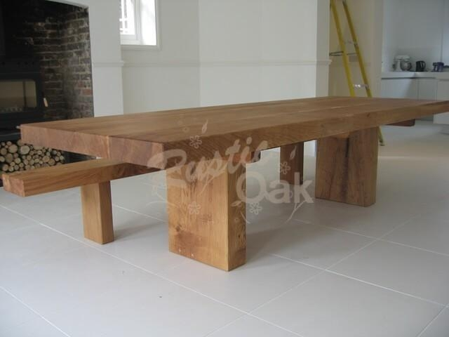 Rustic Oak – Chunky Oak Beam Dining Table In Newest Rustic Oak Dining Tables (View 1 of 20)
