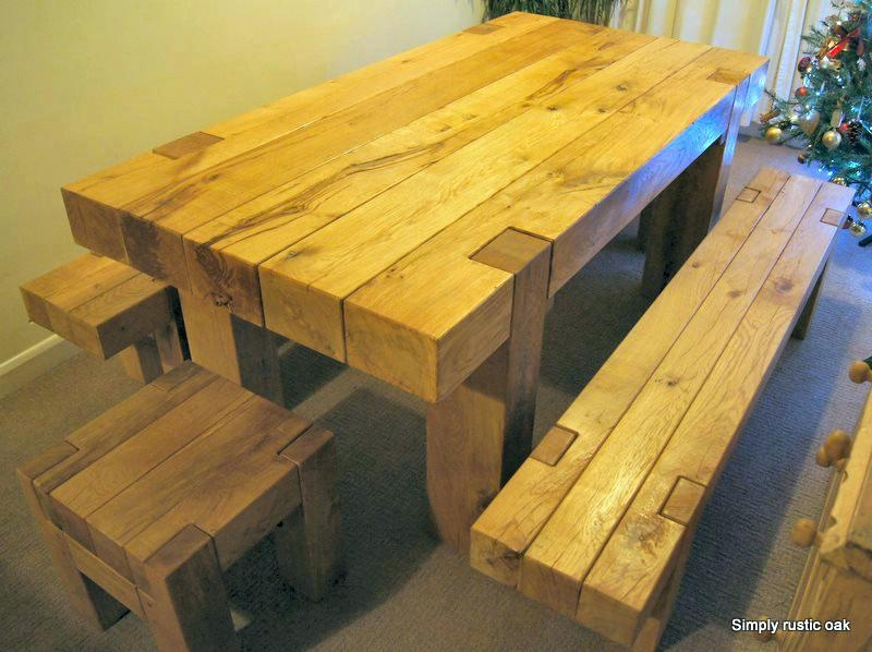 Rustic Oak Dining Table – Mitventures (Image 16 of 20)