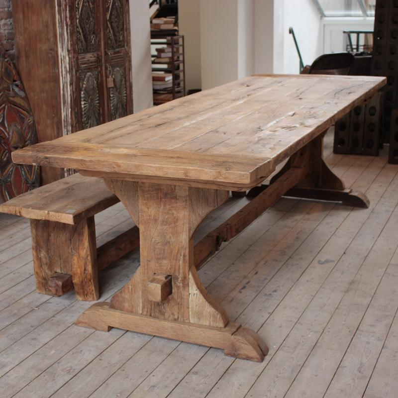 Rustic Oak Dining Table | Silo Christmas Tree Farm Pertaining To Current Rustic Oak Dining Tables (Image 17 of 20)