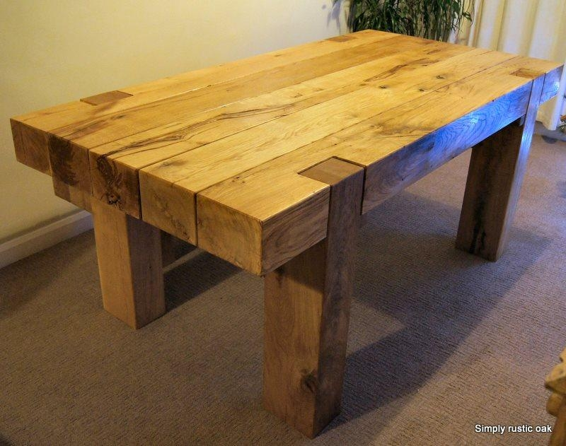 Rustic Oak Dining Table – Table Designs For Most Recent Rustic Oak Dining Tables (Image 15 of 20)