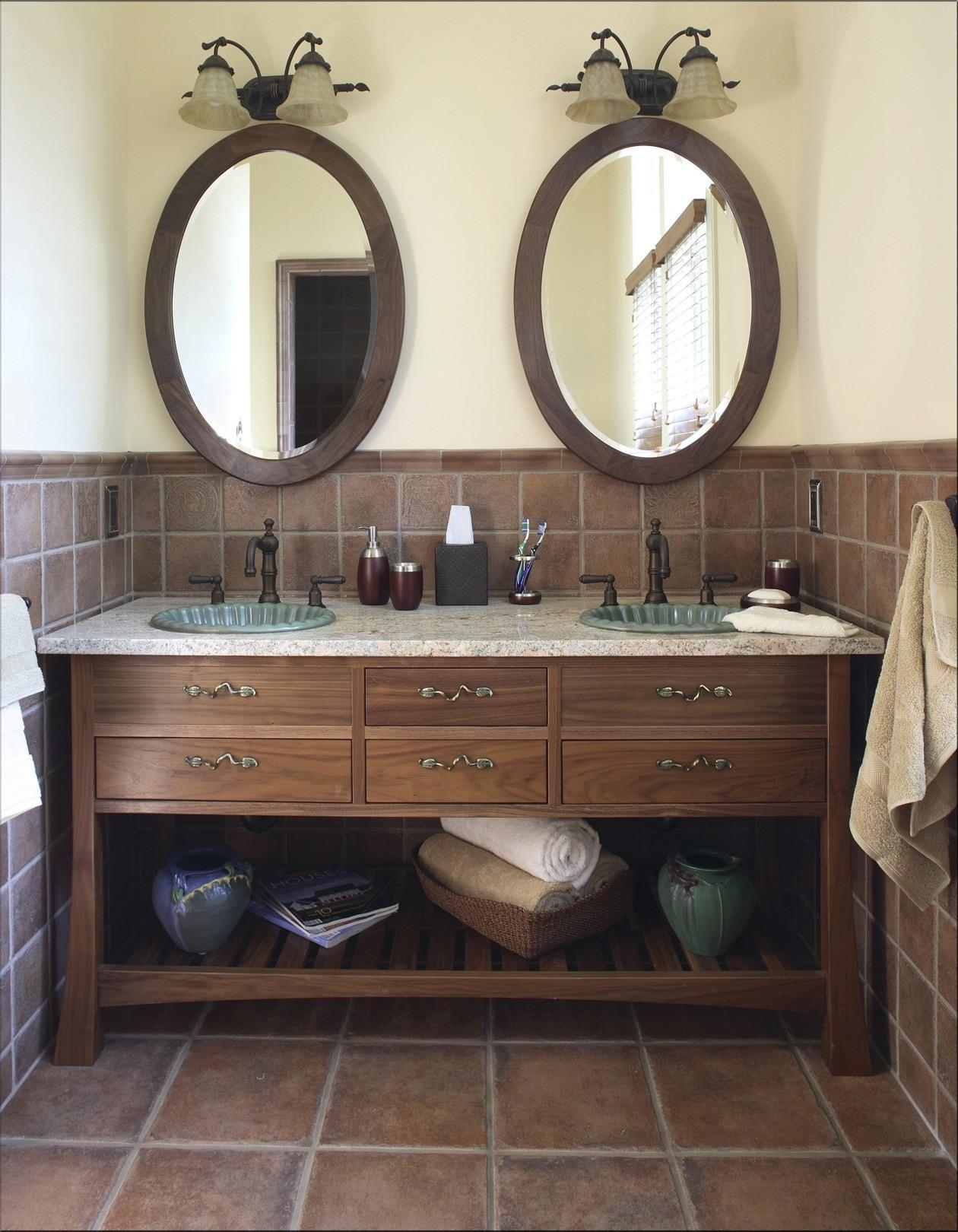 Rustic Oval Bathroom Mirrors | Bathroom Decor Ideas Pertaining To Oval Bath Mirrors (Image 15 of 20)