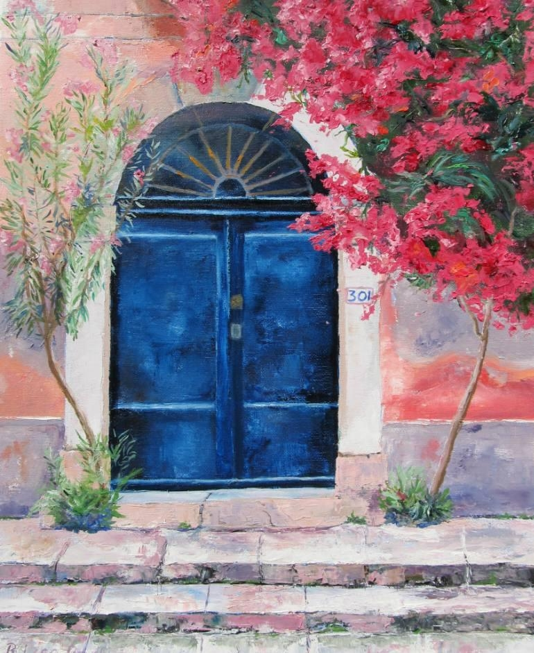Saatchi Art: Italian Village Door Paintinglisa Boyd For Italian Village Wall Art (Image 17 of 20)
