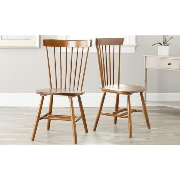 Safavieh Country Classic Dining Country Lifestyle Spindle Back Pertaining To Most Recent Oak Dining Chairs (View 17 of 20)