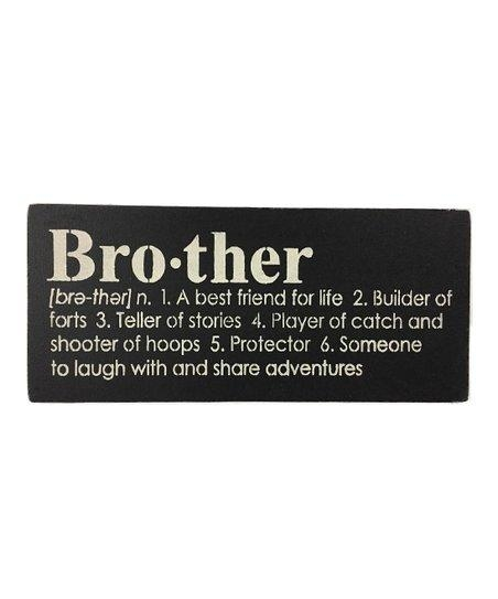 Saras Signs Black Brother Definition Wall Art | Zulily Throughout Brother Definition Wall Art (Image 18 of 20)