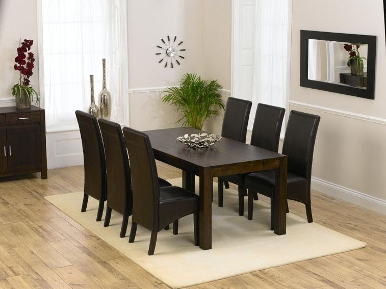 Savanna Dark Oak Dining Table 180Cm & 6 Savanna Dark Oak Dining Inside Latest 180Cm Dining Tables (Image 18 of 20)