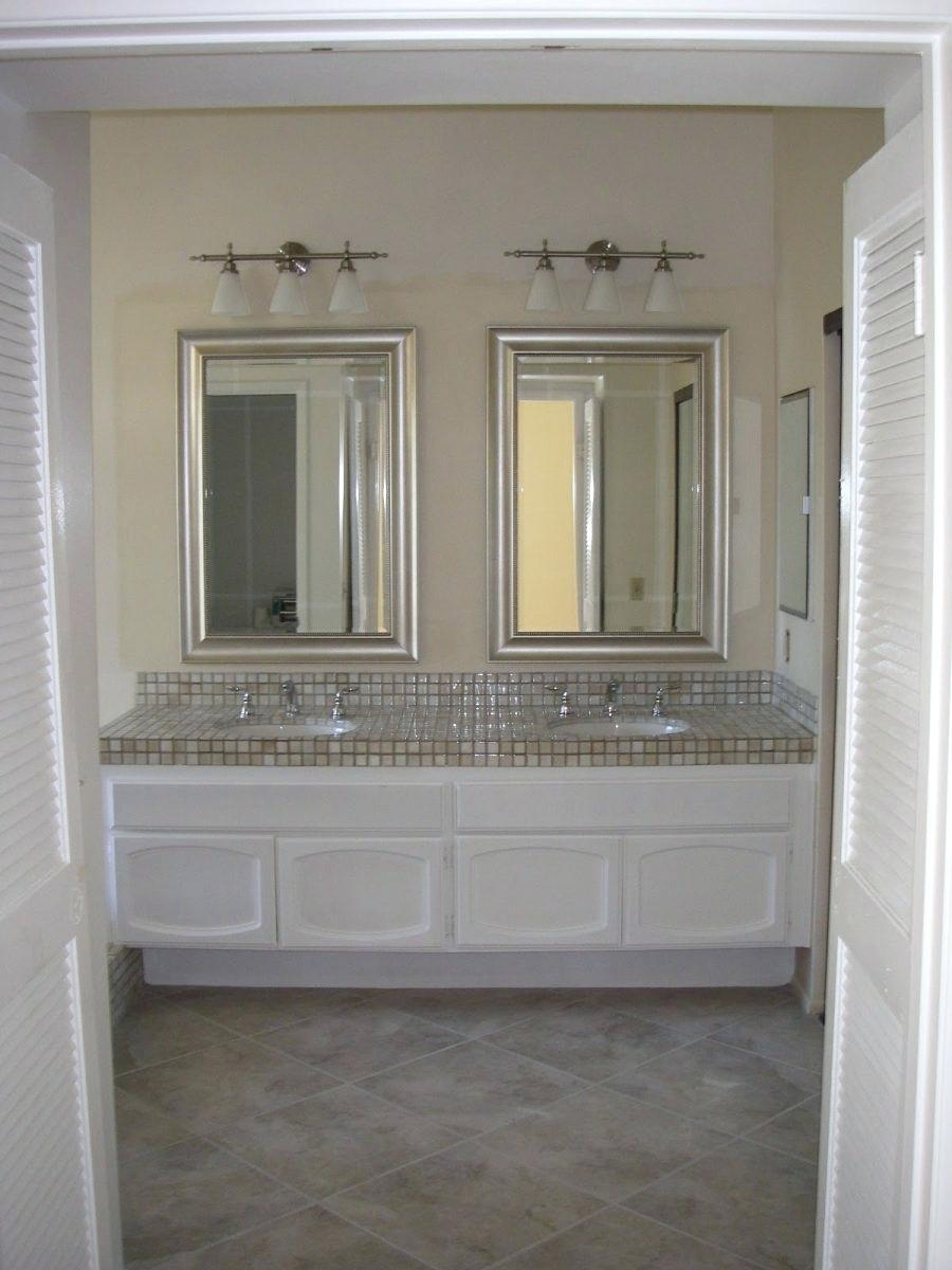 Saveemail Double Vanity Bathroom Mirrors Mirror Ideas Bath #2469 Inside Double Vanity Bathroom Mirrors (View 8 of 20)