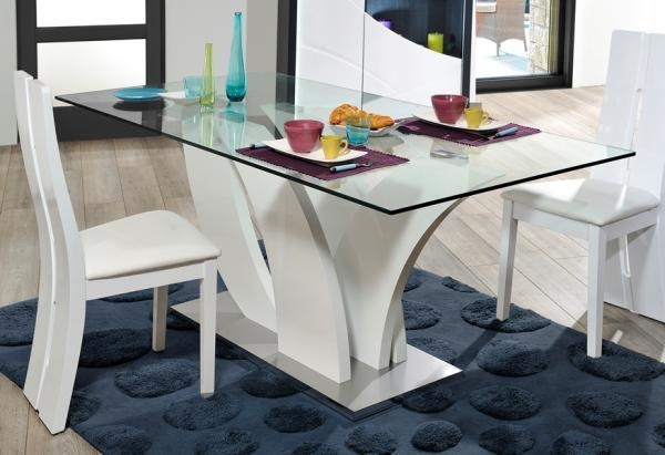 Sciae Elypse Modern Rectangular Glass Dining Table In Black Or Within Newest White Gloss And Glass Dining Tables (Image 15 of 20)