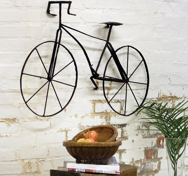 Scrap Metal Bicycle Wall Art Sculpture | Antique Farmhouse In Metal Bicycle Art (Image 19 of 20)