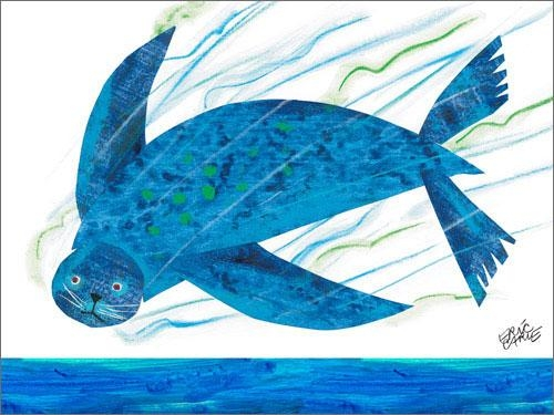 Sea Lion Canvas Wall Art | The Eric Carle Museum Of Picture Book Art Within Eric Carle Wall Art (Image 17 of 20)