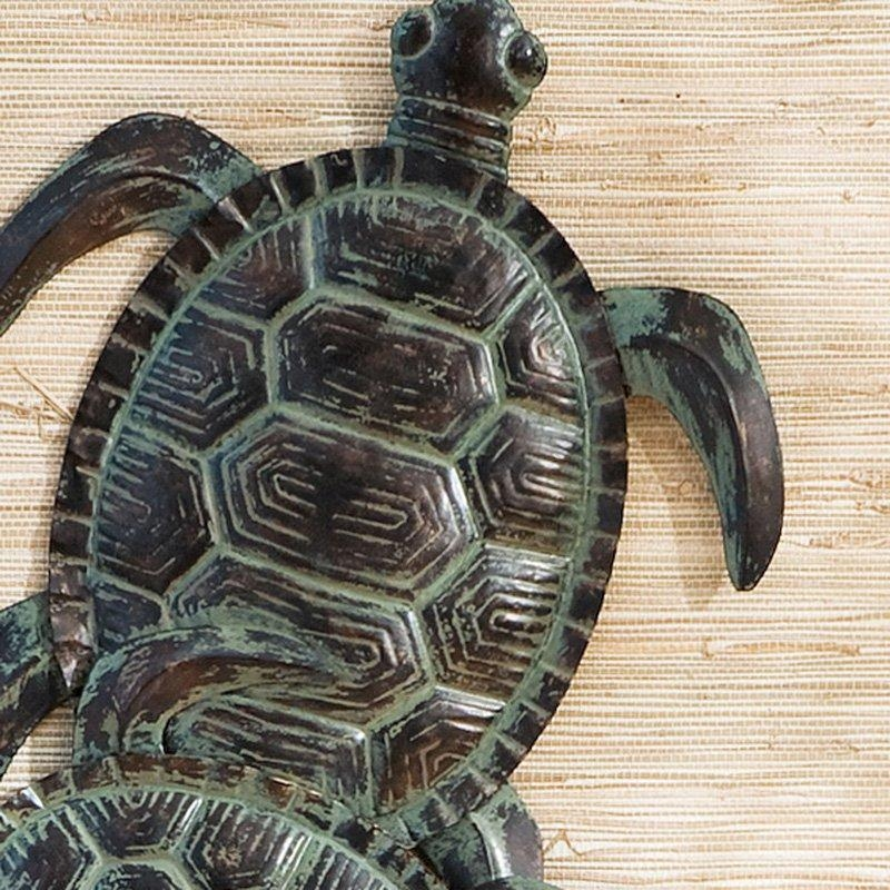 Sea Turtle Metal Indoor/outdoor Wall Art | Hayneedle Regarding Outdoor Metal Turtle Wall Art (Image 10 of 20)