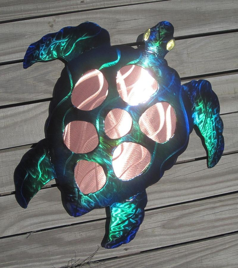 Sea Turtle Metal Wall Art Sculpturerobert Blackwell With Regard To Hawaiian Metal Wall Art (Image 10 of 20)