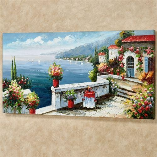 Serene Sorrento Italian Scene Canvas Wall Art Pertaining To Italian Scene Wall Art (View 17 of 20)