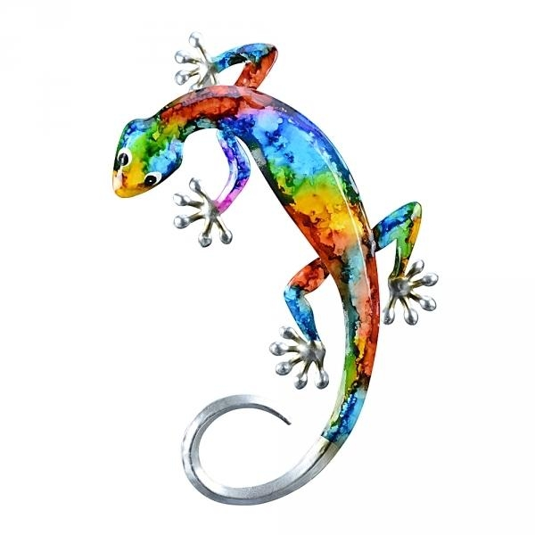 Set 6 Gecko Outdoor Metal Wall Art Pertaining To Gecko Outdoor Wall Art (View 2 of 20)