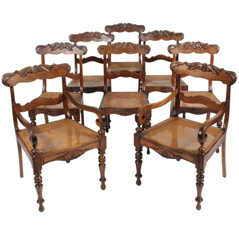 Set Of 19Th Century Eight Anglo Indian Dining Chairs For Sale At Throughout Recent Indian Dining Chairs (Image 15 of 20)