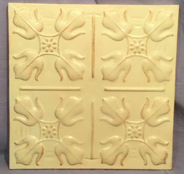 Set Of 3 Pottery Barn Ivory Medallion Tiles Wall Art | Ebay For Medallion Tiles Wall Art (Image 9 of 20)