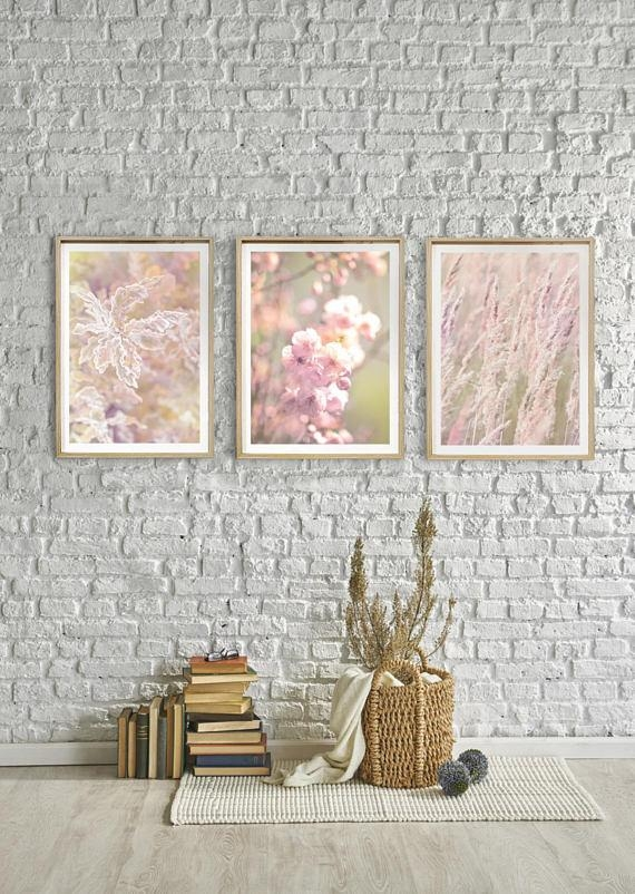 Set Of 3 Wall Art Prints Beautiful Nature Photography Living For Glamorous Mother Of Pearl Wall Art (Image 19 of 20)