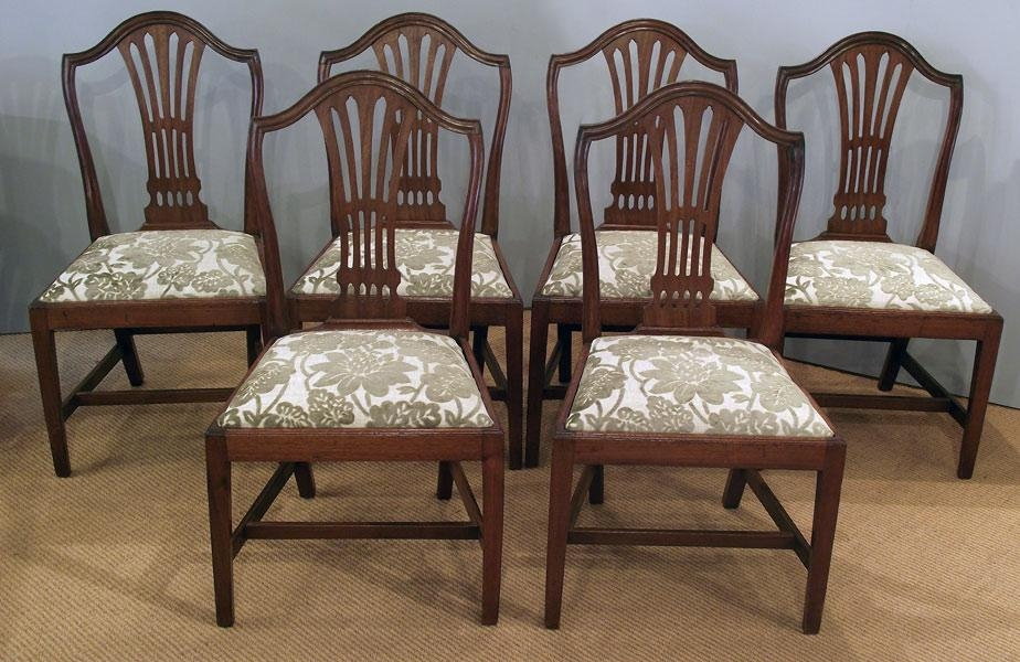 Set Of 6 Antique Mahogany Dining Chairs : Antique Dining Chairs Throughout Most Recently Released Mahogany Dining Tables And 4 Chairs (View 20 of 20)